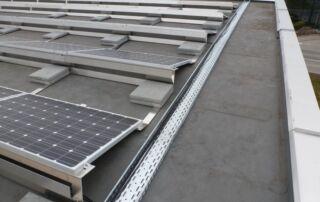 Kinetic Solar flat roof mounts