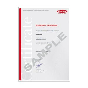 Fronius 20 Year Warranty IG Plus
