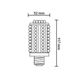 Aren-Lite CORN-90-12V-CW dimensions